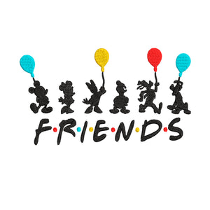 Disney Friends TV Inspired Machine Embroidery Design 5x7 and 4x4.