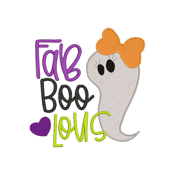 Fab-Boo-Lous Ghost Halloween Machine Embroidery Design!  What a year!   4 sizes