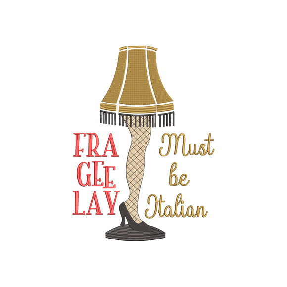 Inspired by A Christmas Story Movie The Famous Leg Lamp, Frageelay ... Embroidery Design