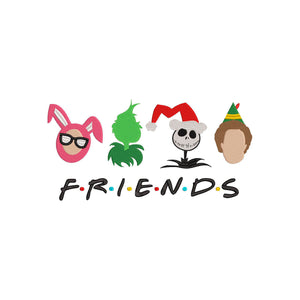 Friends - Buddy, Grinch, Ralphie, and Jack Skellington!  Christmas Machine Embroidery Design 6 sizes
