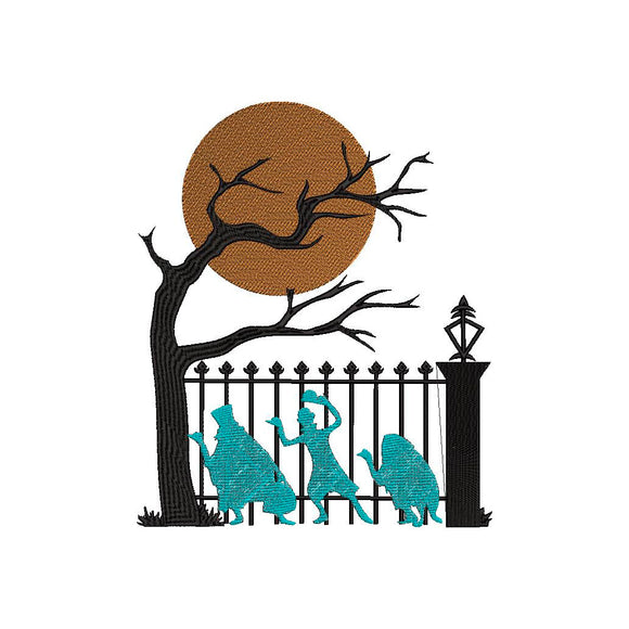 Bundle - Disney inspired Haunted Mansion 999 Happy Haunts! Machine Embroidery Design.