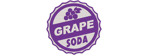 Disney Up Inspired Machine Embroidery Grape Soda Cap 5 Sizes