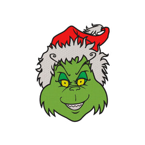Inspired by The Grinch who stole Christmas Machine Embroidery Design.