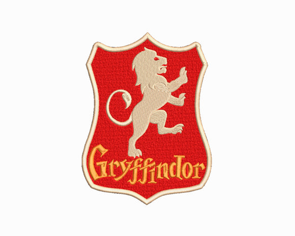 Harry Potter Gryffindor Rampart Lion inspired Machine Embroidery Design. 5 Sizes