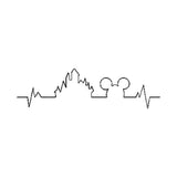 Disney inspired Heartbeat Machine Embroidery Design. 3 Stitch patters, 5 Sizes Design comes in a Satin, Fill and Single Stitch pattern.