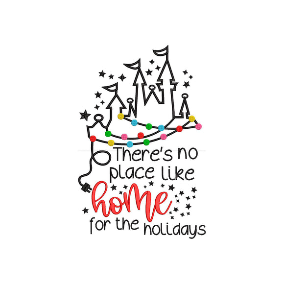 Disney inspired Machine Embroidery Design. There's no place like home for the holidays.   2 Different Designs.