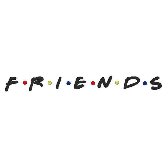 Friends TV inspired Machine Embroidery Design. 2 sizes