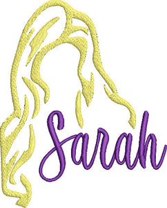 Hocus Pocus Movie Inspired Machine Embroidery Design File. Sanderson Sisters Unite! Just Sarah