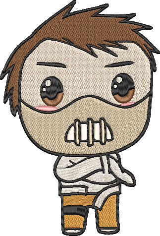 Silence of the Lambs Movie Inspired Machine Embroidery Design File. Hannibal Lecter Cute Design. 5x7 & 4x4 designs