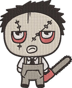 Texas Chainsaw Massacre Movie Inspired Machine Embroidery Design File. Leatherface Cute Design. 5x7 & 4x4 designs