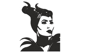 Disney Maleficent Mistress of Evil Villains inspired Machine Embroidery Design. 2 sizes, can be customized. Angelina Jolie inspired.