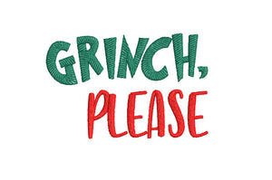 Inspired by The Grinch who stole Christmas Machine Embroidery File. 2 Sizes Grinch, Please.