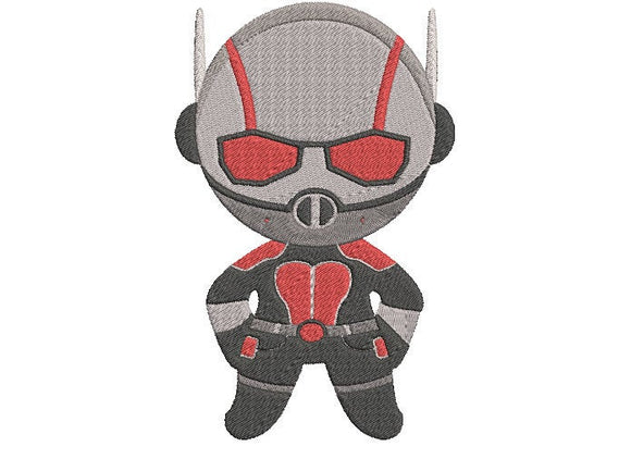Avengers Antman inspired Machine Embroidery Design. 2 sizes Can be personalized