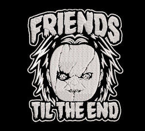 Child's Play Chucky inspired Horror  Machine Embroidery Design Files. Friends til the End. 5x7 & 4x4 designs