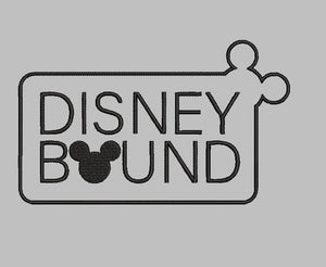 Disney inspired Disney Bound Machine Embroidery Design. Sold with or without Family name. 2 Sizes   2 sizes