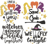 Bundle Hocus Pocus Movie Inspired Machine Embroidery Design File. 13 files!
