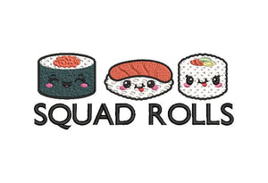 "Sushi Machine Embroidery Designs 4"" and 7"" designs.  Squad Rolls"
