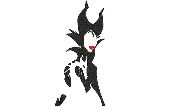 Disney Maleficent Mistress of Evil Villains inspired Machine Embroidery Design. 2 sizes, can be customized.