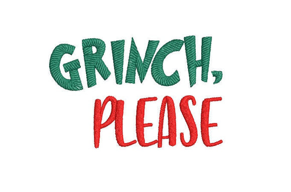Inspired by The Grinch who stole Christmas Machine Embroidery File. Grinch Please.