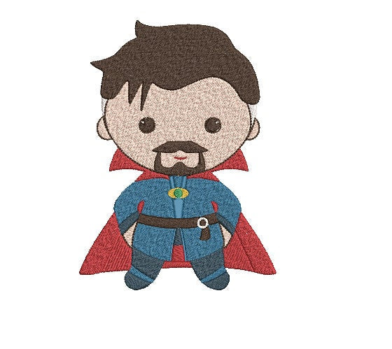 Avengers Dr. Strange inspired Machine Embroidery Design. 2 sizes Can be personalized