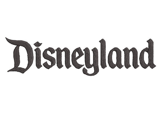 Disneyland inspired Machine Embroidery Design. 2 sizes, can be customized.