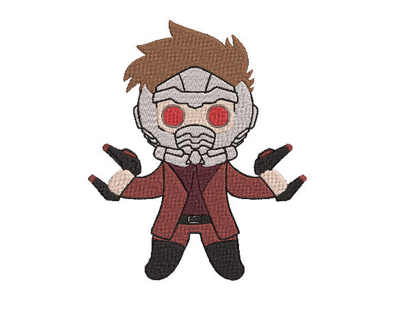 Avengers Star-Lord inspired Machine Embroidery Design. 2 sizes Can be personalized