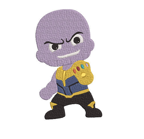 Avengers Thanos inspired Machine Embroidery Design. 2 sizes Can be personalized