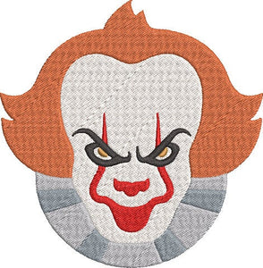 IT the Movie Inspired Machine Embroidery Design File. Pennywise. 5x7 & 4x4 designs