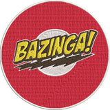 Sheldon Big Bang Theory Inspired Machine Embroidery Design. Bazinga 2 sizes, 2 designs.