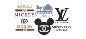 BUNDLE - All 7 Designer Labels Disney Inspired Crossover 2 Sizes, 14 files in all Machine Embroidery Design.
