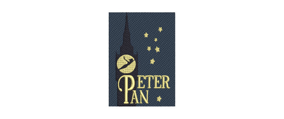 Disney Peter Pan inspired Machine Embroidery Design.  2 Sizes.