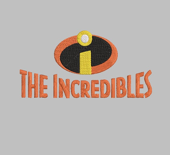 Disney Pixar The Incredibles  inspired Machine Embroidery Design.   .