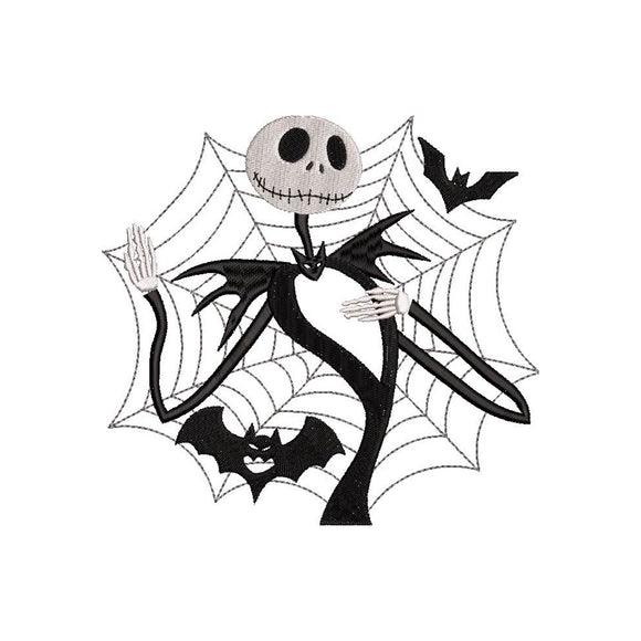 Jack Skellington from The Nightmare Before Christmas! Movie Inspired Machine Embroidery Design. 4 sizes