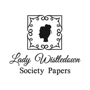 Lady Whistledown Society Papers Bridgerton Inspired Machine Embroidery Design.  5 Sizes