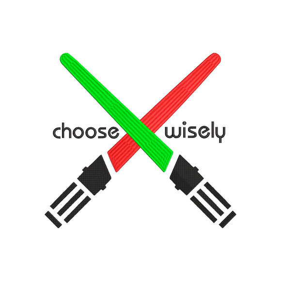 Star Wars Light Saber Machine Embroidery File.  4 sizes.  Choose Wisely