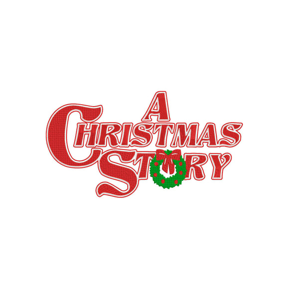 Inspired by A Christmas Story Movie Title Logo Embroidery File.  6 sizes