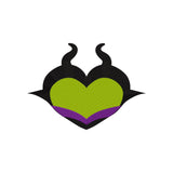 BUNDLE - Disney Villains as Hearts - Maleficent, Ursula, Cruella, and the Evil Queen Inspired Machine Embroidery Design. 4 Sizes