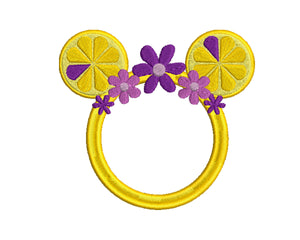 Disney Violet Lemonade inspired Machine Embroidery Design. Multiple Sizes Monogram Ready