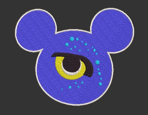 Animal Kingdom Pandora Avatar inspired Machine Embroidery Design. 5 sizes, Both Applique and Filled Designs
