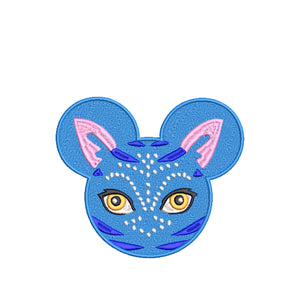 Animal Kingdom Pandora Avatar inspired Machine Embroidery Design. 5 sizes,