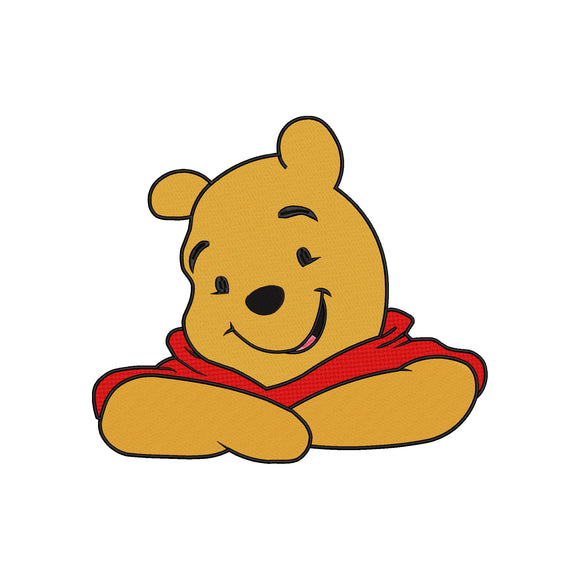 Disney inspired Winnie the Pooh Machine Embroidery Design.