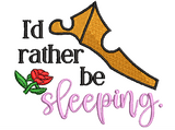 Disney Princess Aurora Sleeping Beauty Inspired Machine Embroidery Design . I'd rather be sleeping 2 sizes