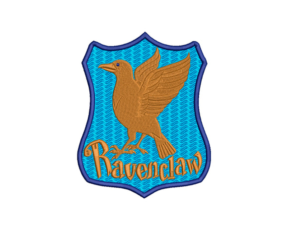 Harry Potter Ravenclaw inspired Machine Embroidery Design. House Crest.  Filled and Applique Designs