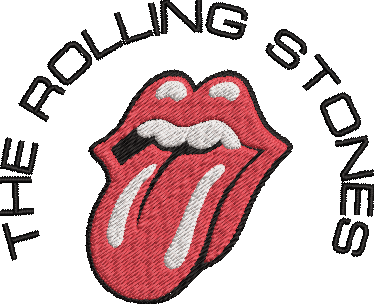 The Rolling Stones Band inspired Machine Embroidery Design. Multiple Sizes