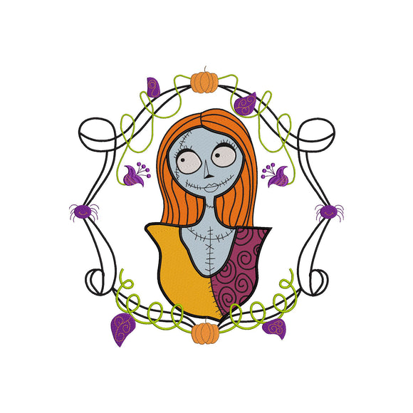 Sally from The Nightmare Before Christmas! Movie Inspired Machine Embroidery Design. 5 sizes