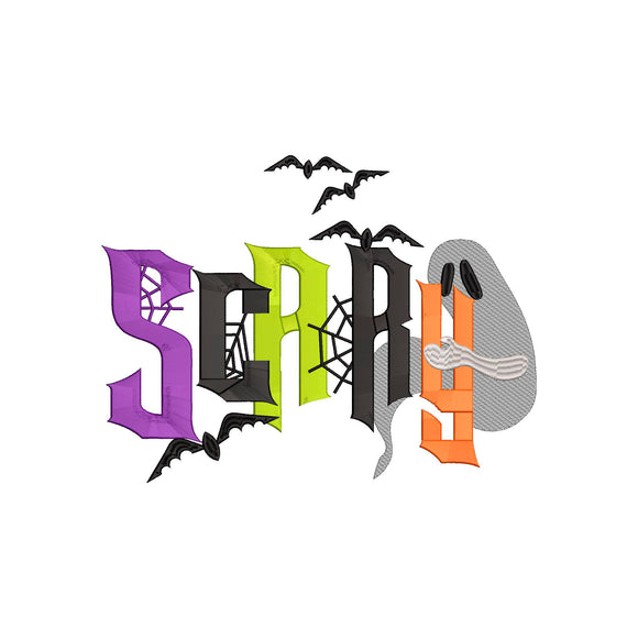 Halloween Machine Embroidery Design!  Scary   6 sizes