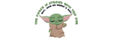 Disney Mandalorian inspired Machine Embroidery Baby Yoda. 2 Sizes. The Force is Strong with this one, but now he needs a nap!