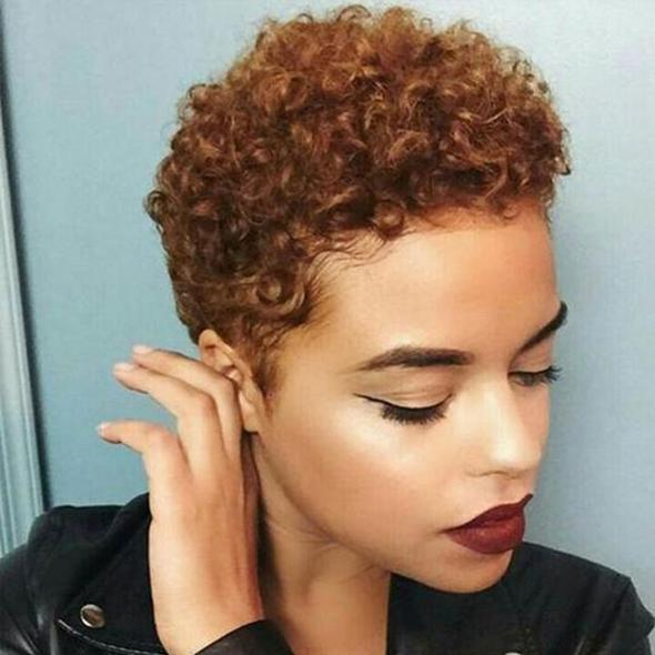 (HOT SALE🔥)WOMEN AFRA SHORT CURLY HAIR WIG WITHOUT BANGS