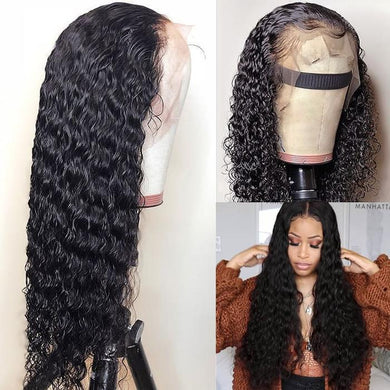 (Free Shipping Over $ 45!) 360 Lace Curly Hair Real Wig Deep Wavy Front Wig