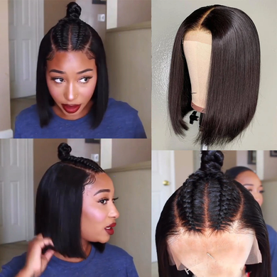Ladies Brazilian straight lace wig, pre-selected hairline Remy wig